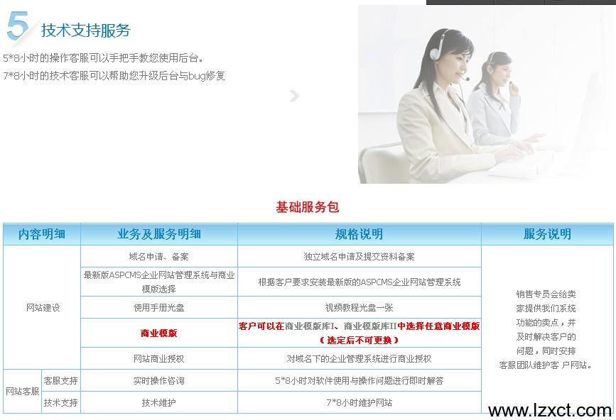网站建设基础服务包