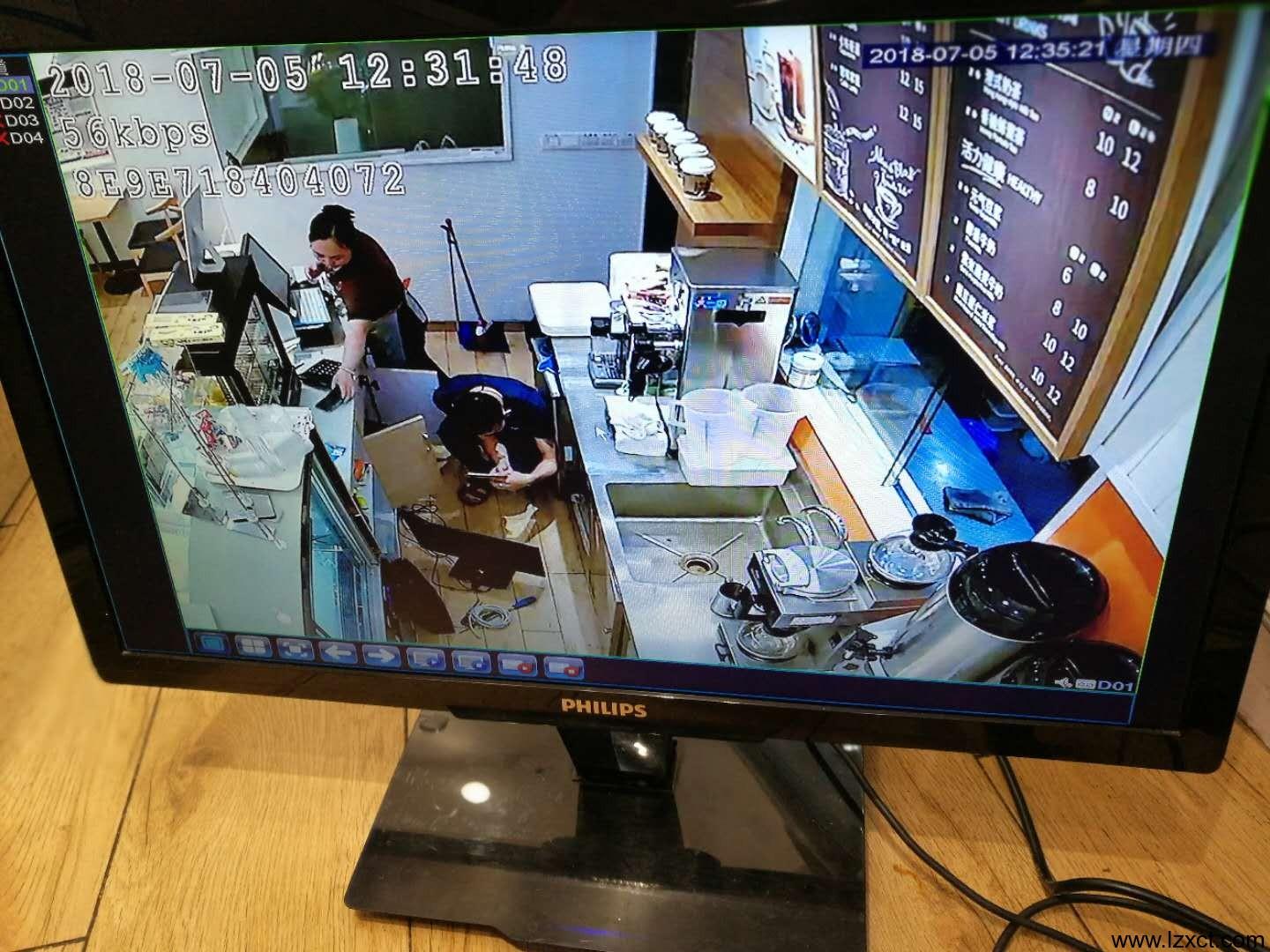 监控安装完成后的实时监控效果图